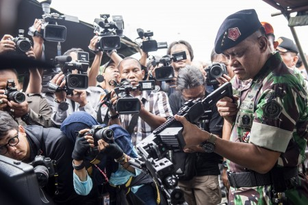 Police's new sharp projectiles 'better' than TNI ammunition