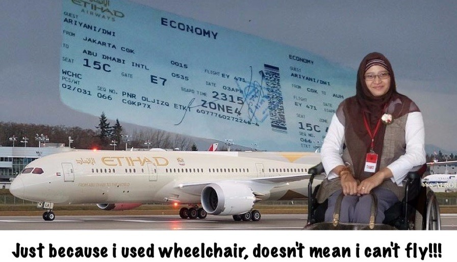 Disabled Indonesian woman demands Etihad for public apology