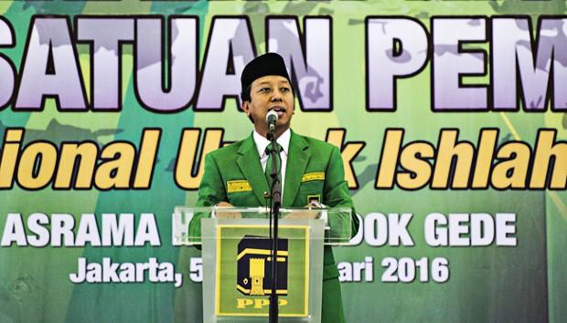 United Development Party (PPP) chairman Muhammad Romahurmuziy.