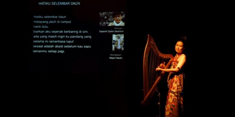 A night of poetry and music with harpist Maya Hasan