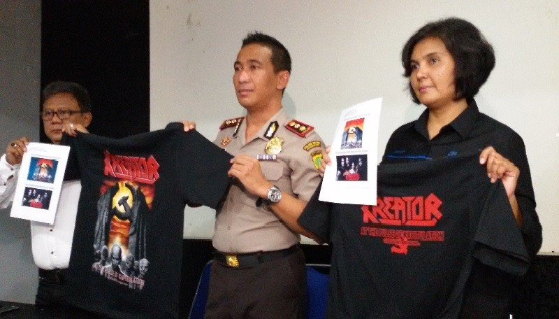 Police release two people caught selling hammer and sickle T-shirts