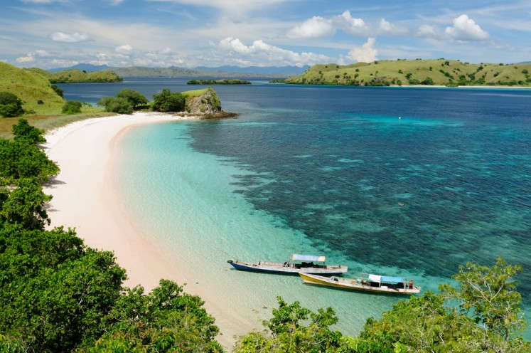 Komodo Island is part of the Lesser Sunda Islands in East Nusa Tenggara.