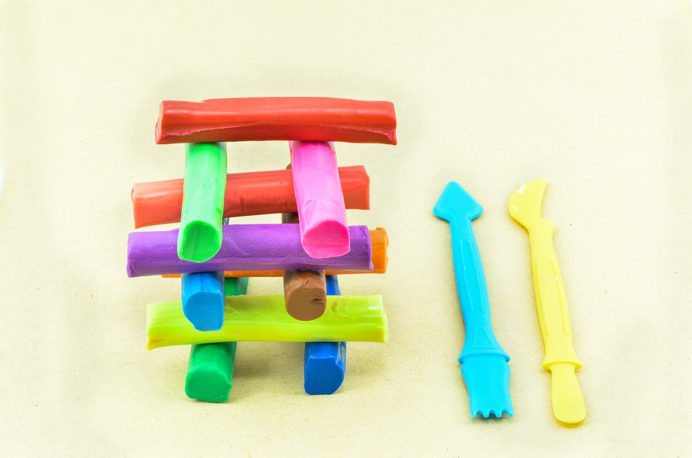 The basic ingredients of play-doh are flour, water, salt, boric acid and mineral oil.