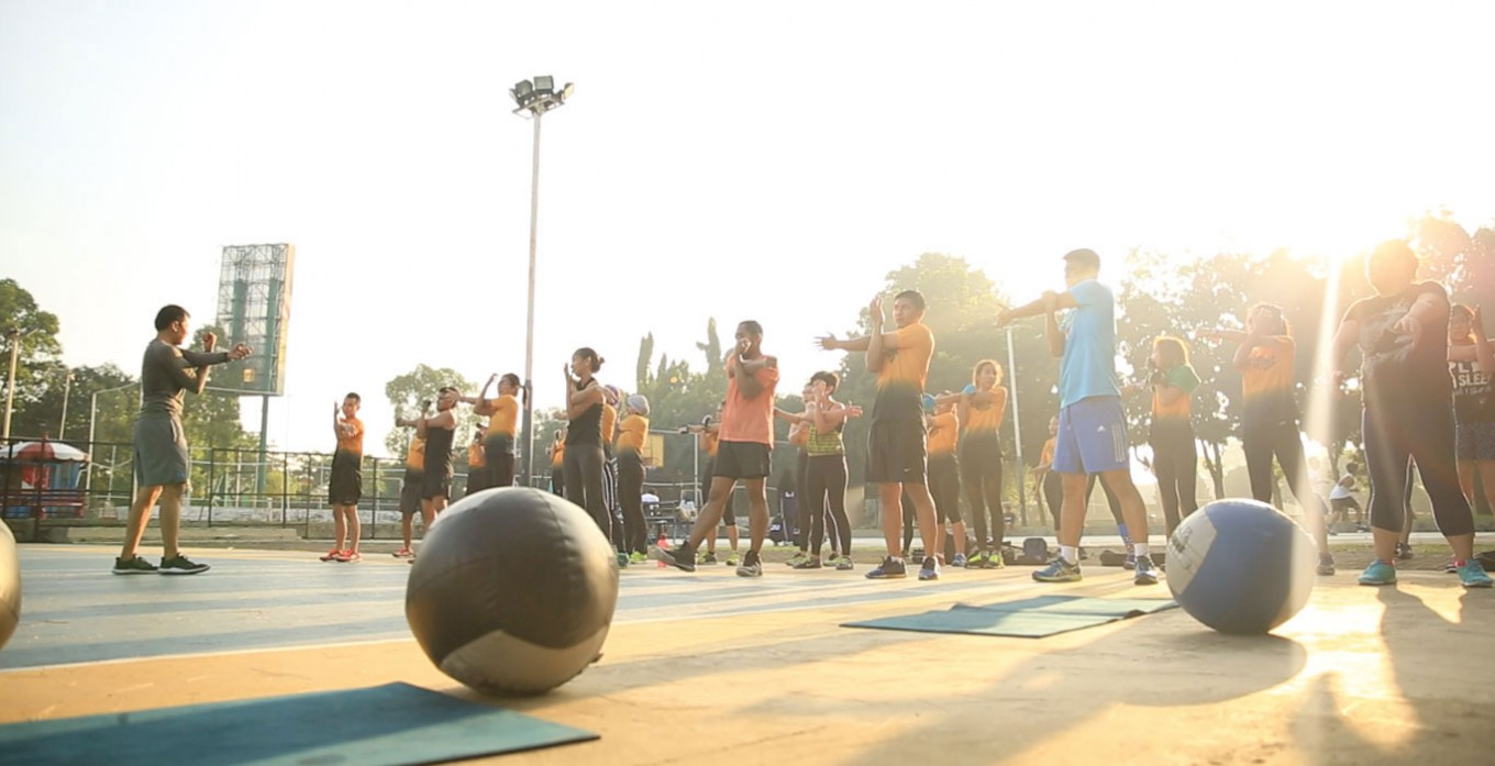 Master Bootcamp: an outdoor group exercise class