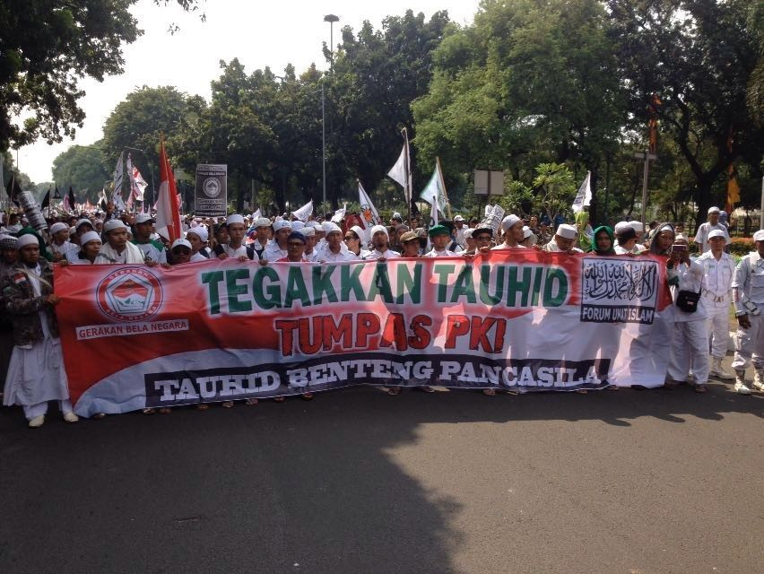 Thousands rally in protest of alleged revival of PKI