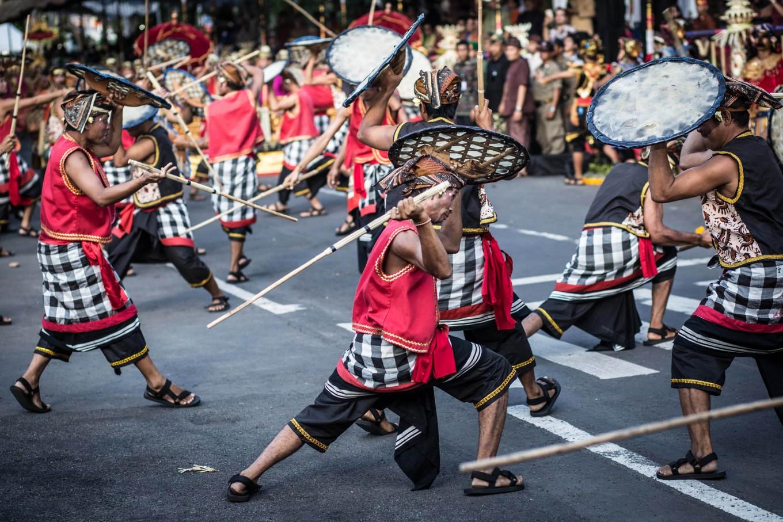 Dancers perform a Balinese war dance. JP/Agung Parameswara