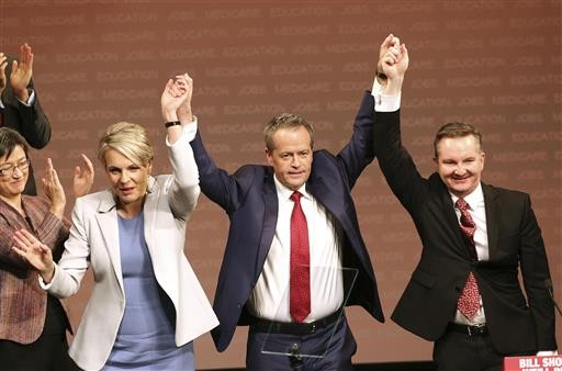 Australian opposition leader makes health center of election