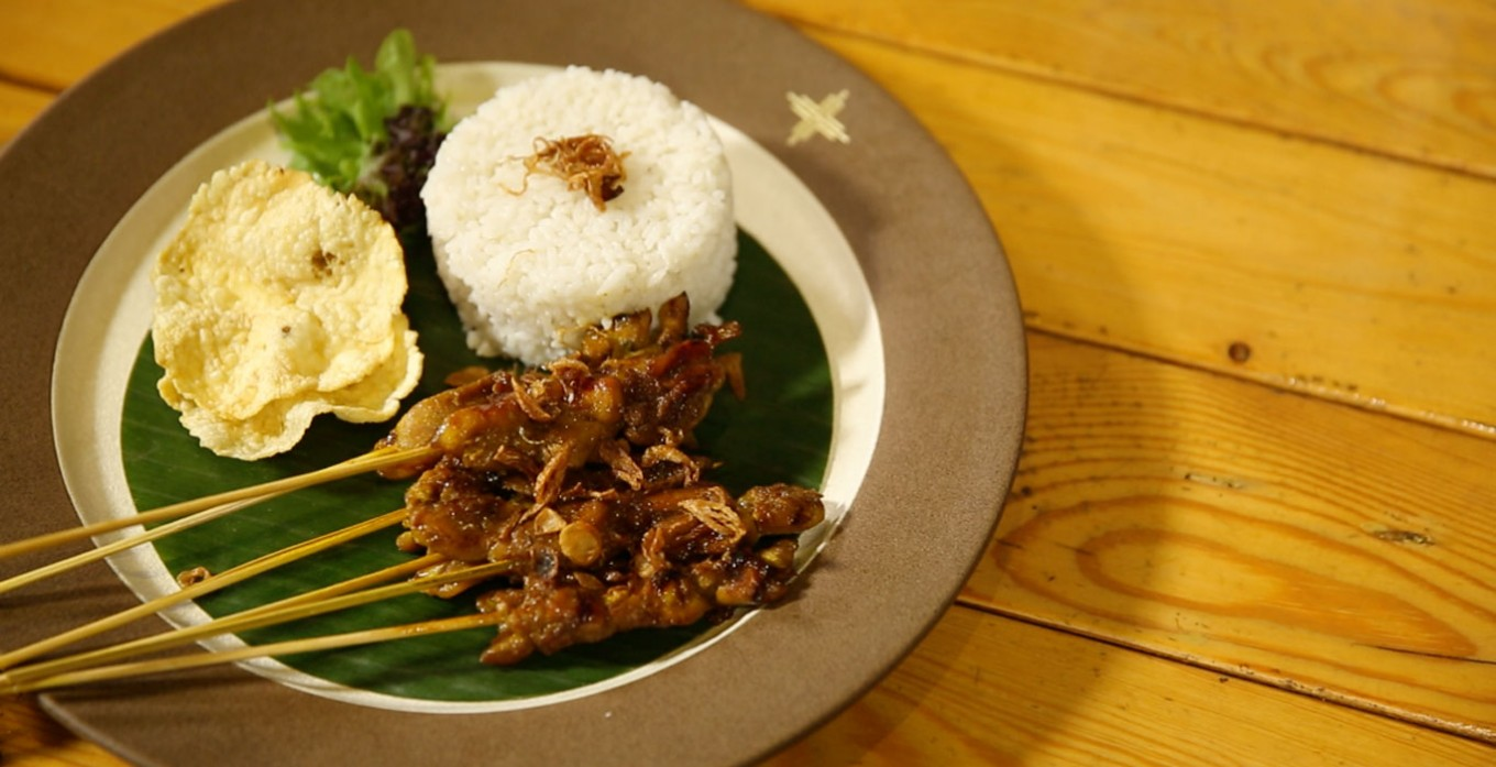 Chicken satay with yellow spice
