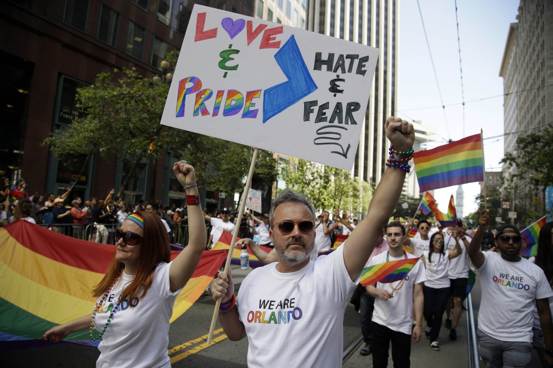 San francisco gay rights protest