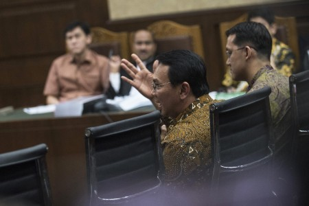 Ahok says he knew nothing about staffer's phone call with Sanusi
