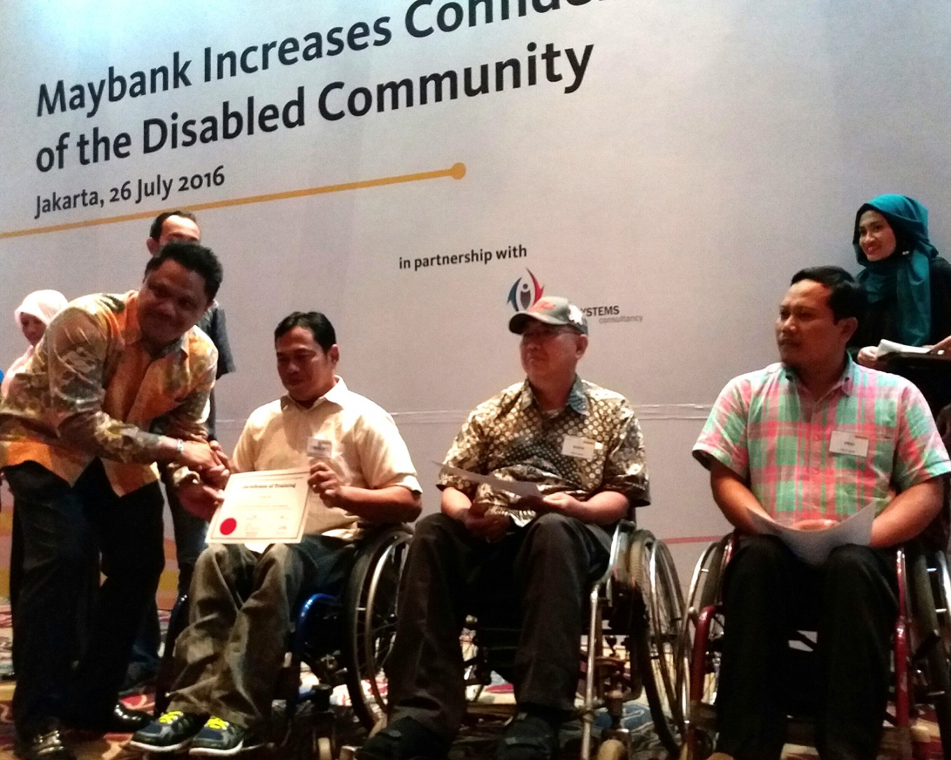 Maybank helps disabled people increase income