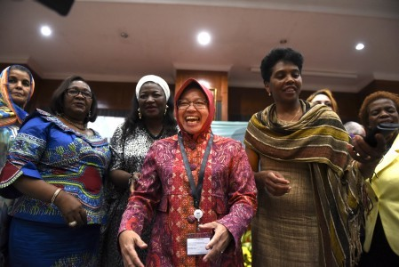 Tri Rismaharini in West Papua to help campaign for PDI-P candidate