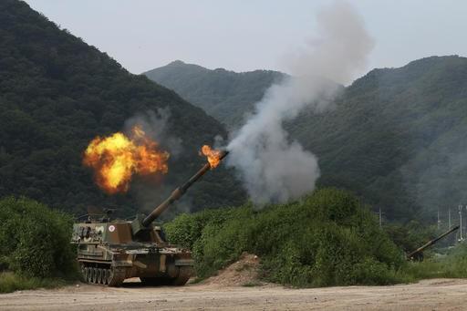 S. Korea holds largest artillery drills near N. Korea border