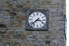 A clock is stopped at the time when an earthquake struck central Italy, in Amatrice Italy, Wednesday, Aug. 24, 2016.  The magnitude 6 quake struck at 3:36 a.m. [0136 GMT] and was felt across a broad swath of central Italy, including Rome where residents of the capital felt a long swaying followed by aftershocks. Massimo Percossi/ANSA via AP