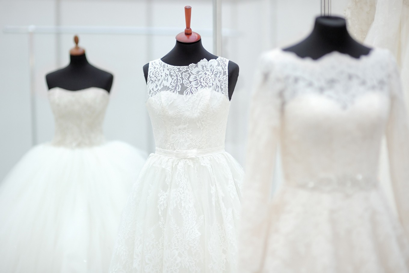 Hand-painted dresses on display at wedding exhibition - Lifestyle ...