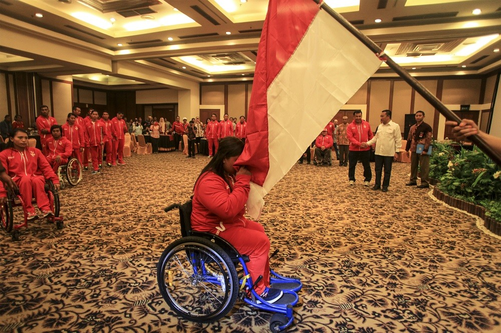 Jakarta's disabled athletes win five medals at National Paralympics