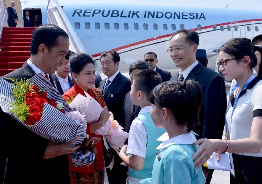 Jokowi arrives in China for G20 Summit