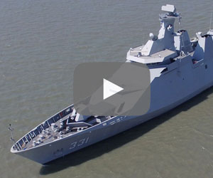 PKR Warship: High-tech missile-guided destroyer escort frigate