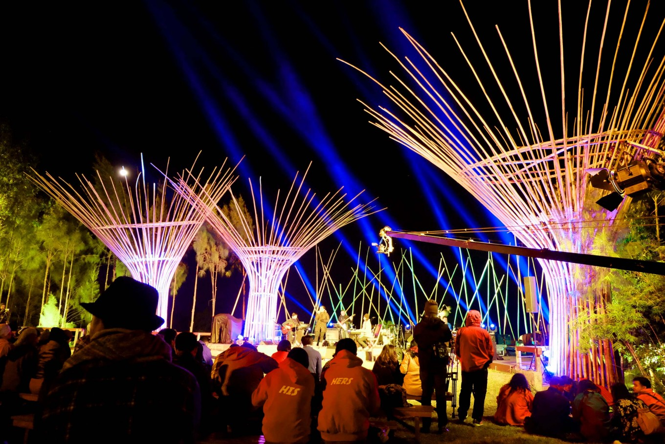 The event has used bamboo as part of its stage decorations since its very first year. JP/Tarko Sudiarno