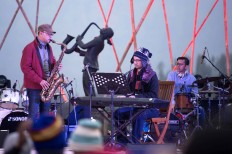 The Nial Djuliarso Trio, with Nial at the piano, collaborates with saxophonist Arif Setiadi. JP/Tarko Sudiarno