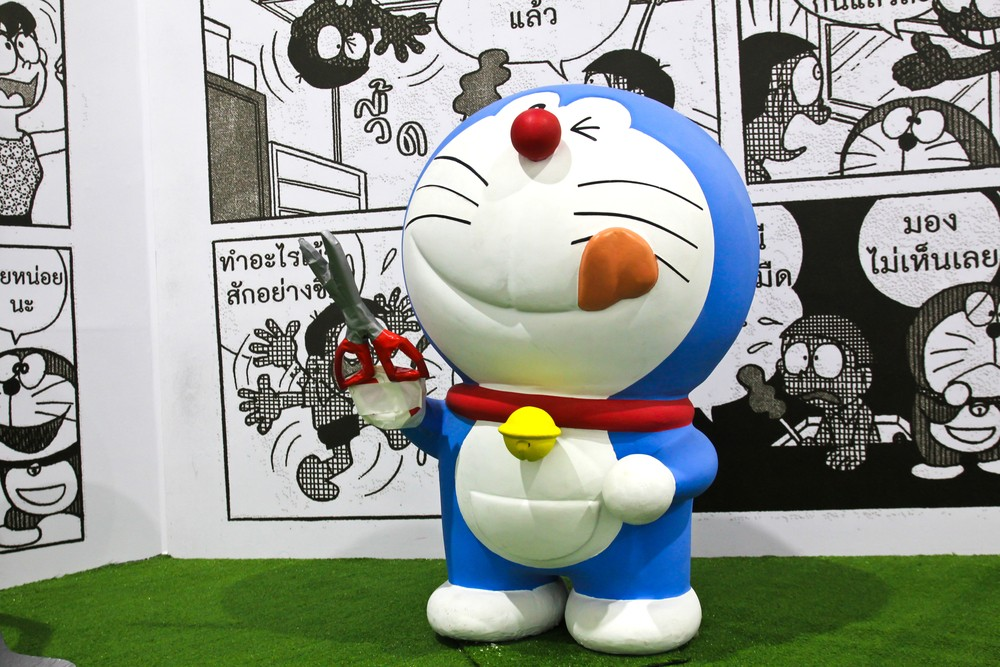 Doraemon clock unveiled at Tokyo bay area, celebrating 50th anniversary