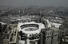 In this Wednesday, Sept. 7, 2016 file photo, Muslim pilgrims circle the Kaaba, Islam's holiest shrine, at the Grand Mosque in the Muslim holy city of Mecca, Saudi Arabia. Muslim pilgrims have begun arriving at the holiest sites in Islam ahead of the annual hajj pilgrimage in Saudi Arabia, with some weeping with their hands outstretched for a fleeting touch of the Kaaba. The cube-shaped shrine, at the center of Mecca's Grand Mosque, is the site the world's 1.6 billion Muslims pray toward five times a day. AP Photo/Nariman El-Mofty