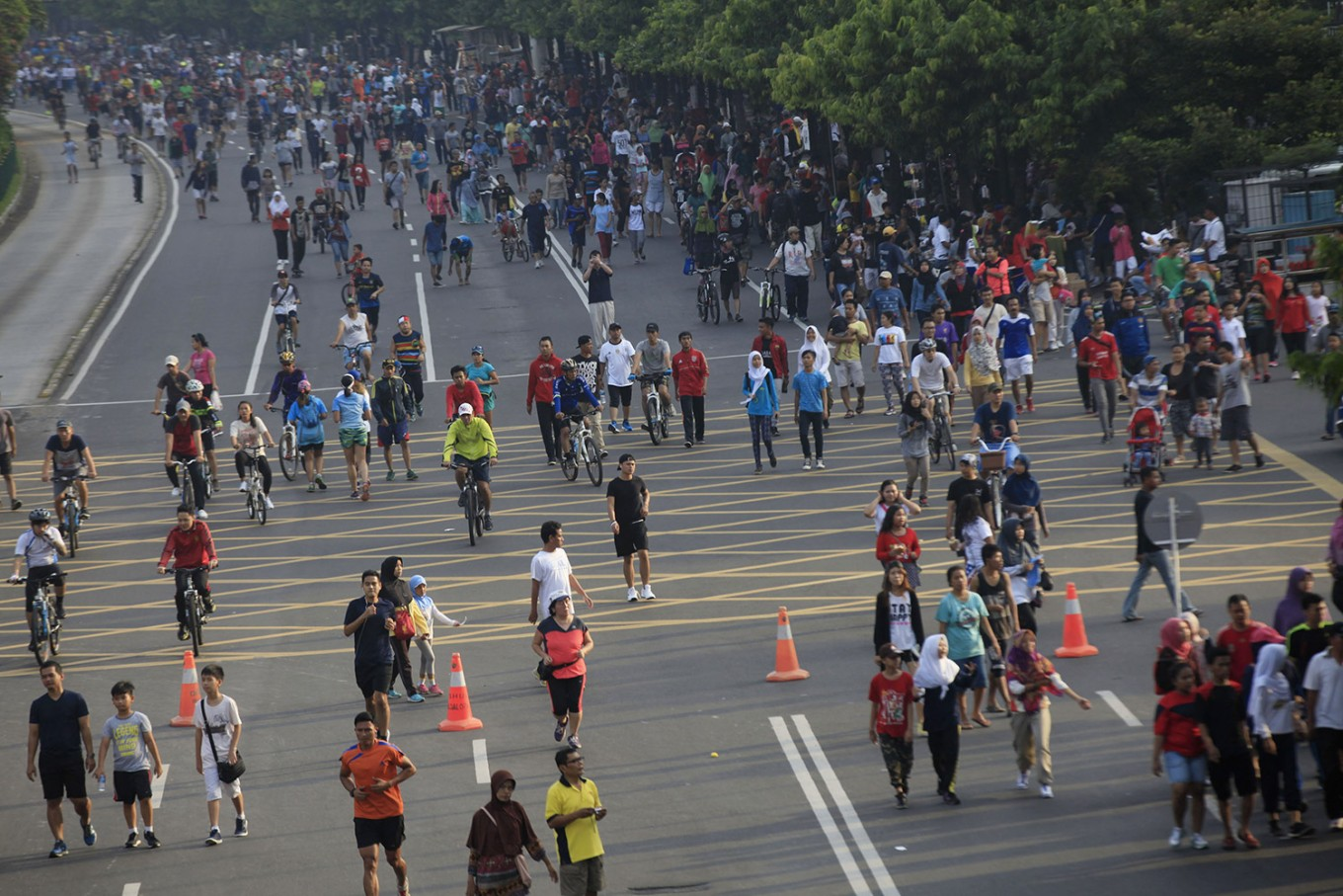 Commentary: Car Free Day chaotic, but provides free civic space