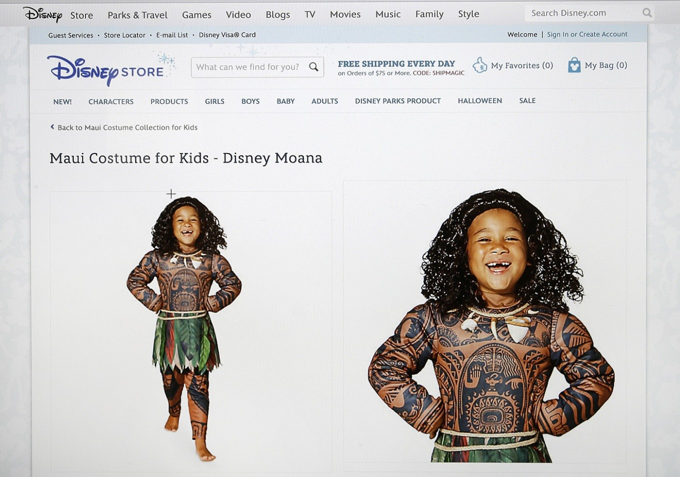 Disney pulls boy's costume critics lambasted as 'Polyface'