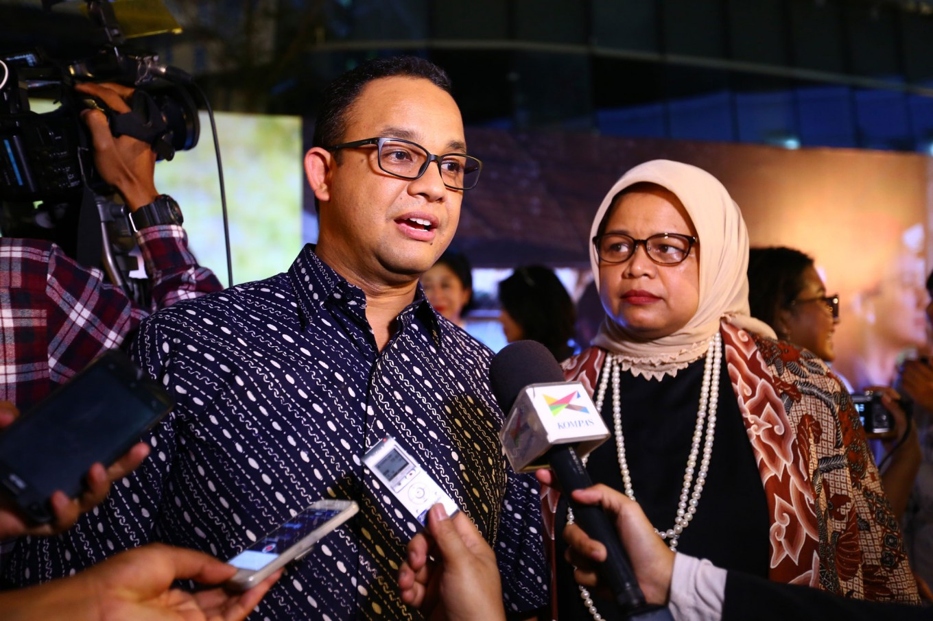 Build more absorption wells in Jagakarsa to avoid floods, Anies says