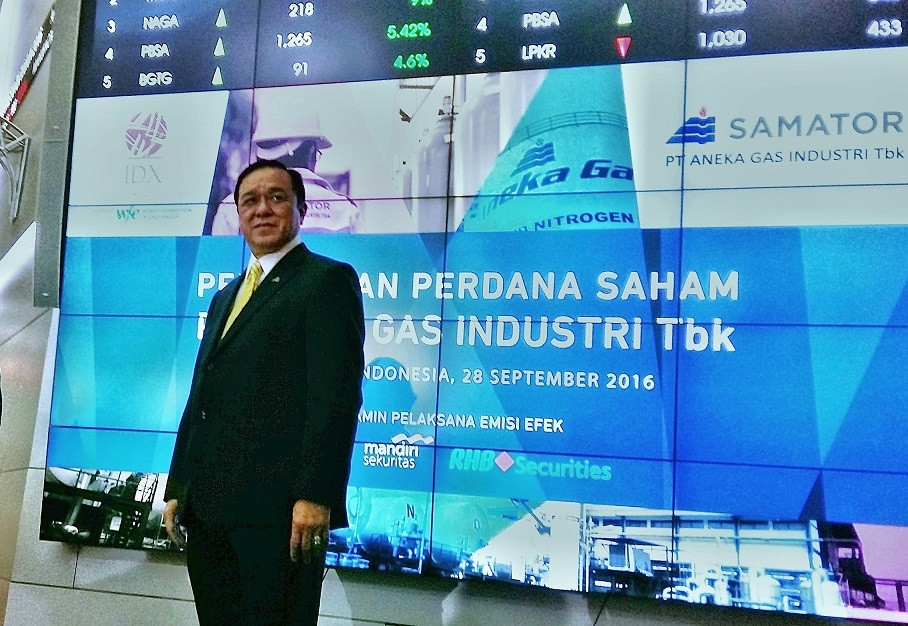 Samator's Aneka Gas Industri officially listed on IDX