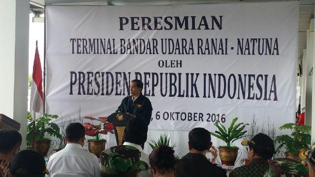 Jokowi inaugurates new airport terminal in Natuna