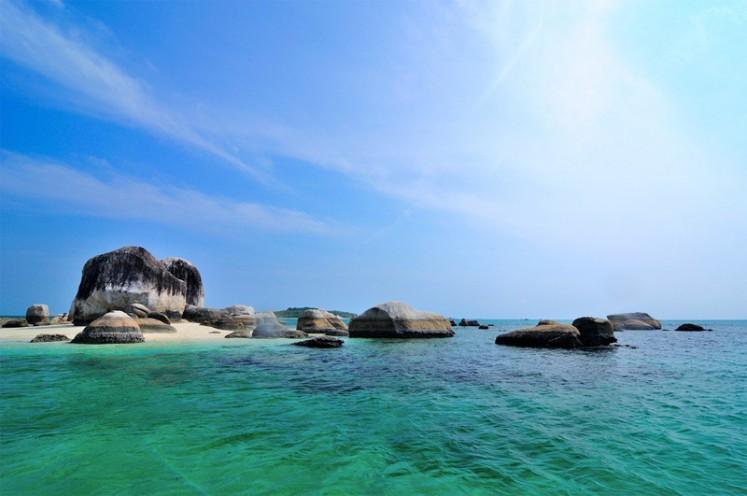 A seascape off Belitung Island in Bangka-Belitung Islands province.