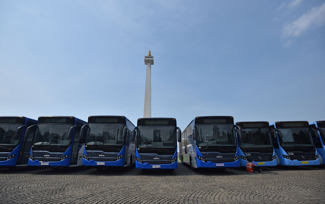 Transjakarta gets 416 new buses ahead of Asian Games