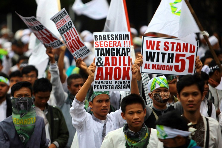 The first anti-Ahok rally on October 14.