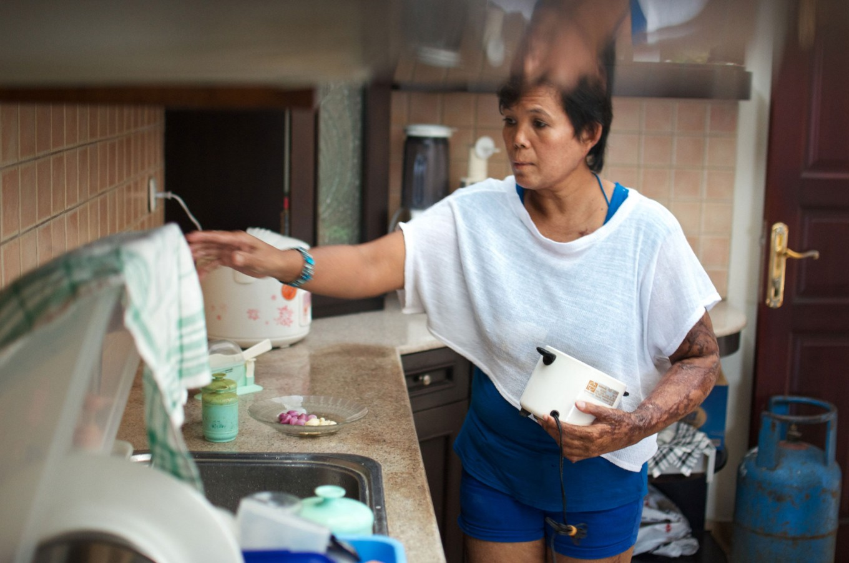 Yayuk on July 2, 2012 while working as a domestic worker in Denpasar, Bali. JP/ Anggara Mahendra
