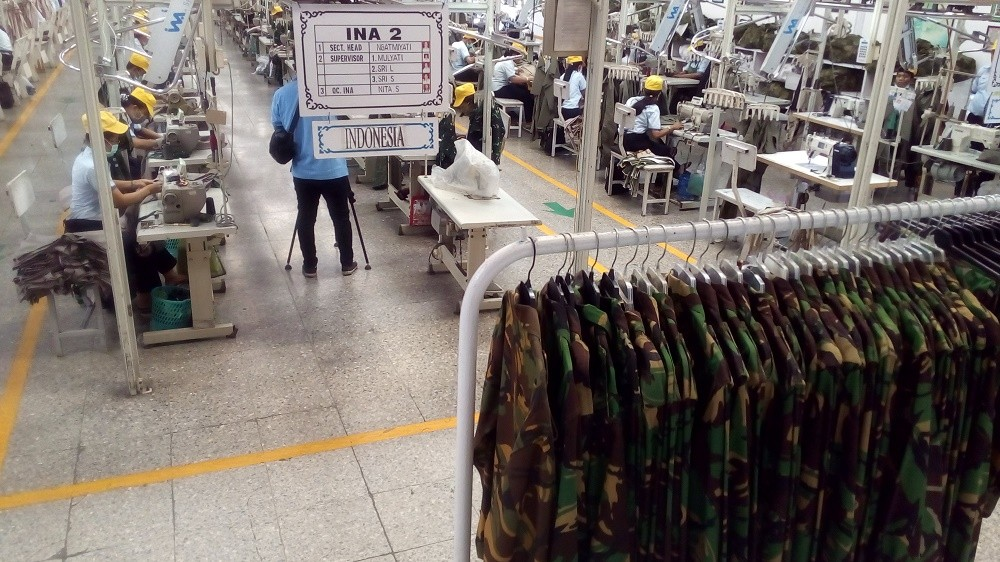 Indonesia aims to be the biggest military uniform exporter