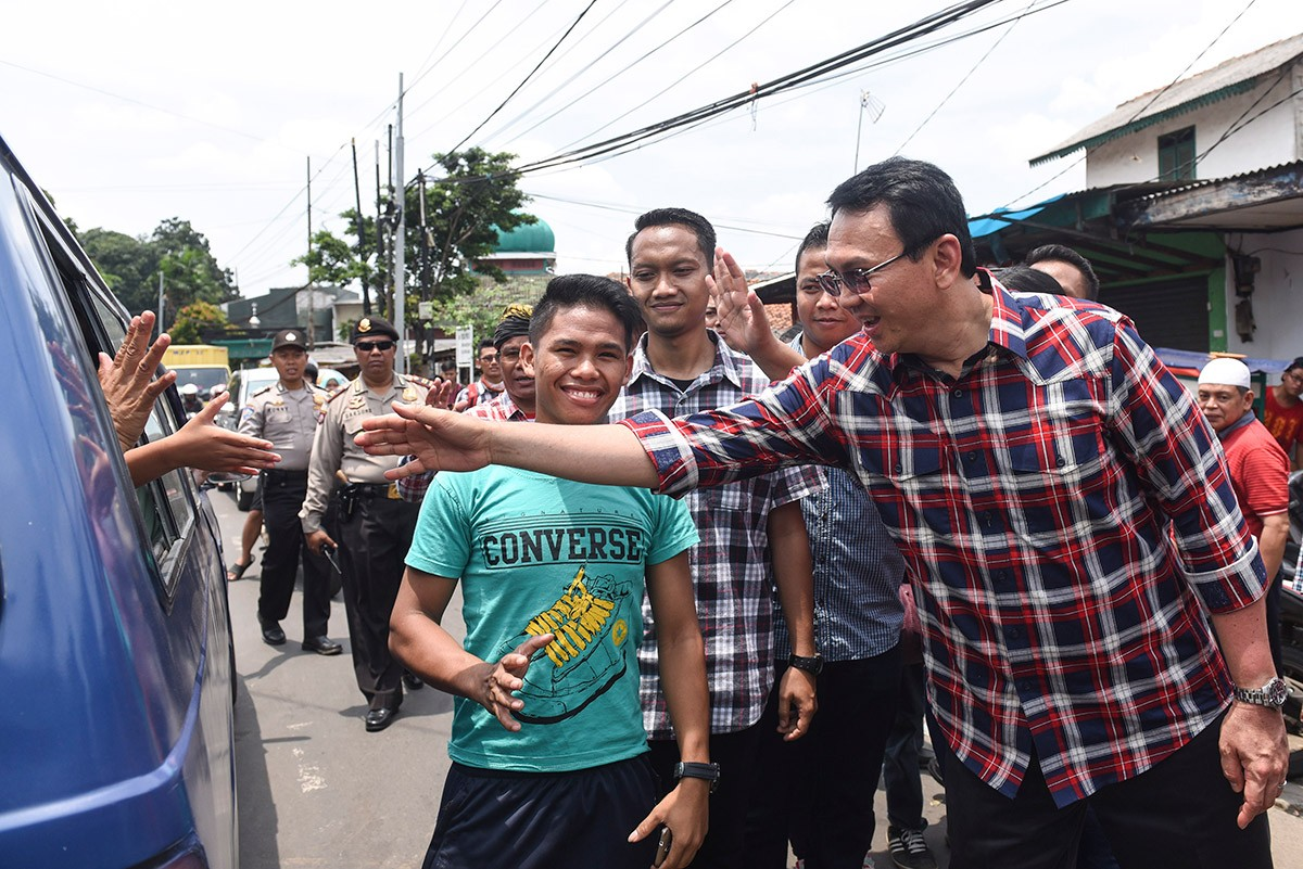 I Am Being Mistreated Ahok National The Jakarta Post