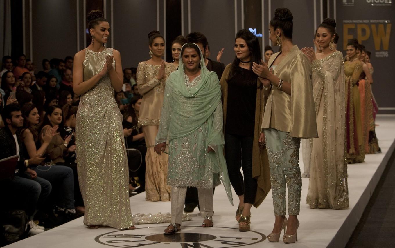 Pakistani gang rape victim walks the fashion runway