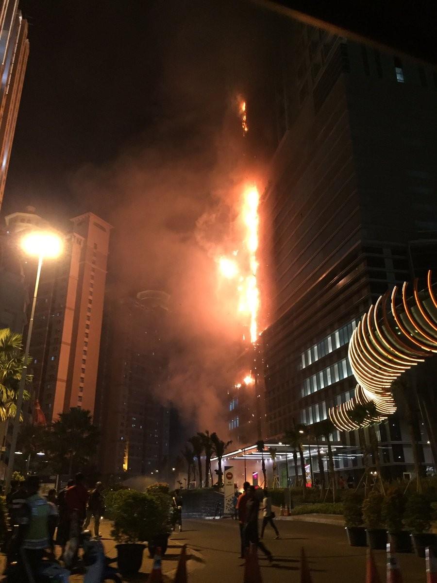 Neo Soho in West Jakarta on fire