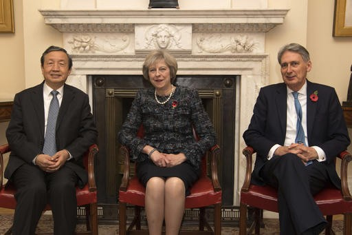Chinese vice premier in UK as London seeks investment