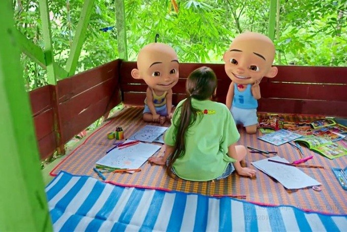 Upin and Ipin, tiny boys with a huge audience