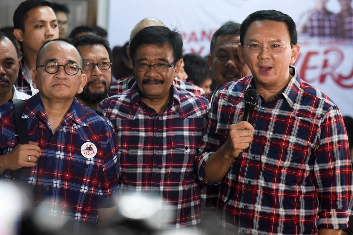 Standing firm — Incumbent Jakarta Governor Basuki