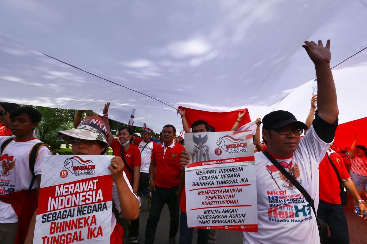 Hundreds join Bhineka Tunggal Ika Parade