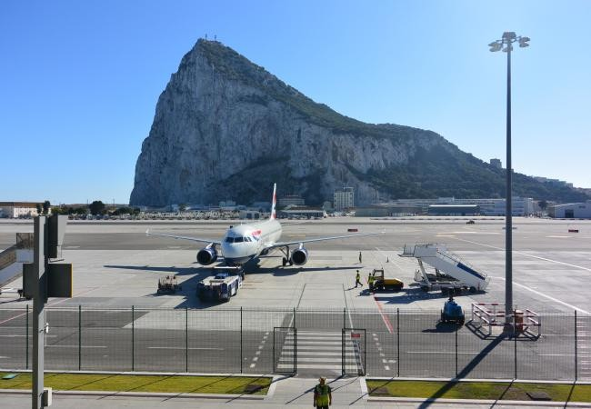 Gibraltar tops list of cities with most-central airports