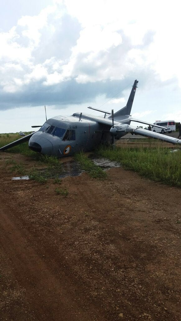 Navy C-212 airplane crashes in Morotai