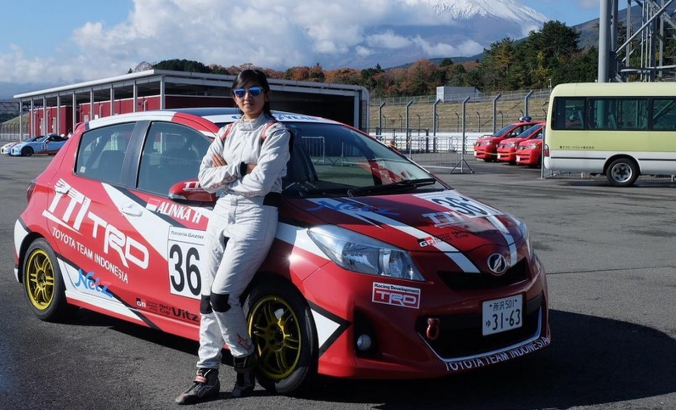 Indonesian female driver shines in international race