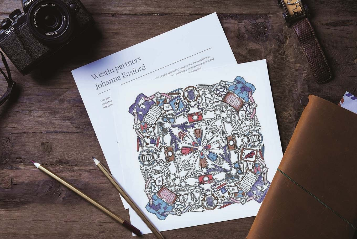 Scottish Illustrator Designs Adult Coloring Sheets For Hotel Guests
