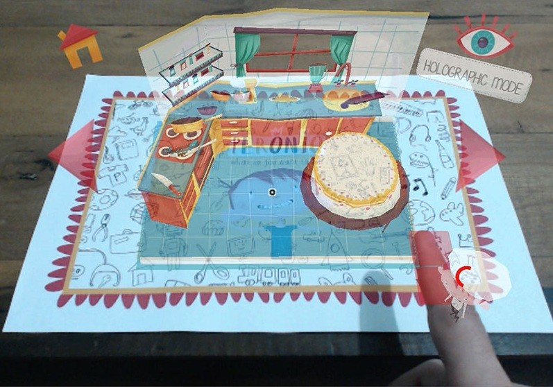 Children's pop-up book more interactive thanks to virtual reality