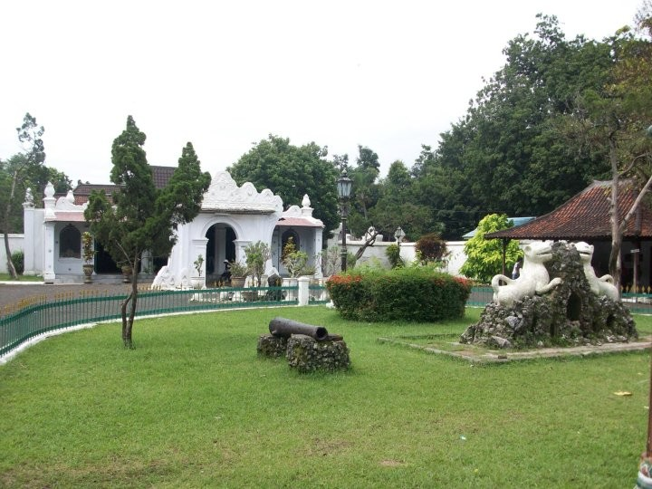 The front lawn of Kasepuhan Palace in Cirebon, West Java.