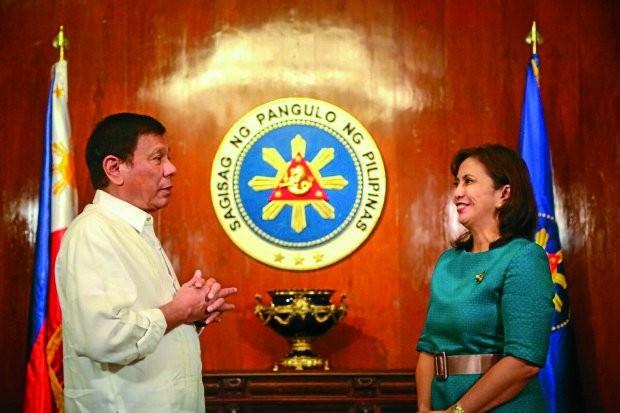 Duterte assures Robredo will be VP 'until last day of her term'